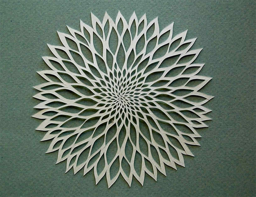 Artistic Flower Paper art by Ruth Mergi