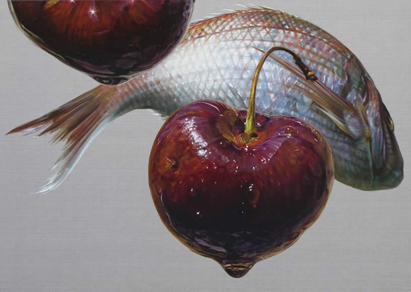 Fish with cherries by Anne Middleton
