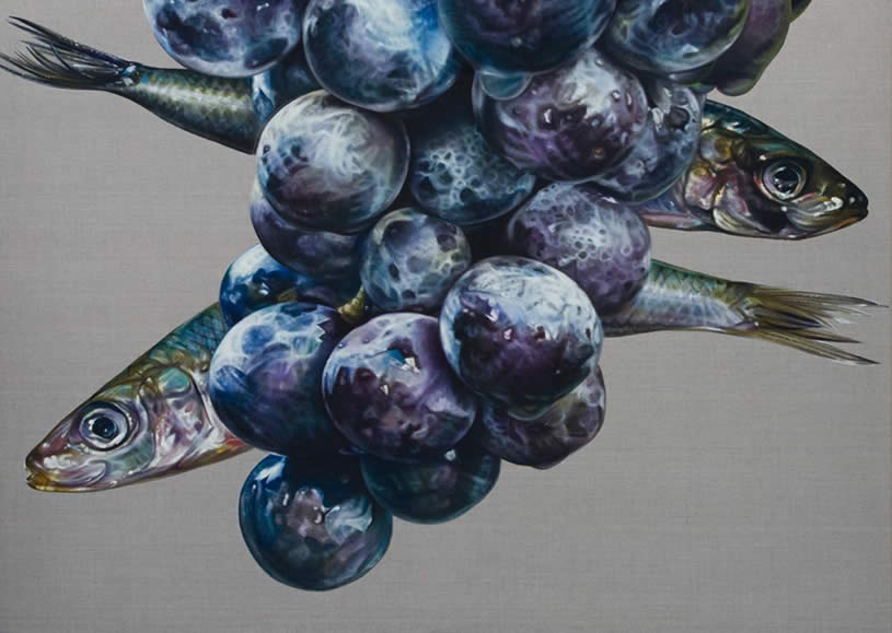 Grapes and Fish by Anne Middleton
