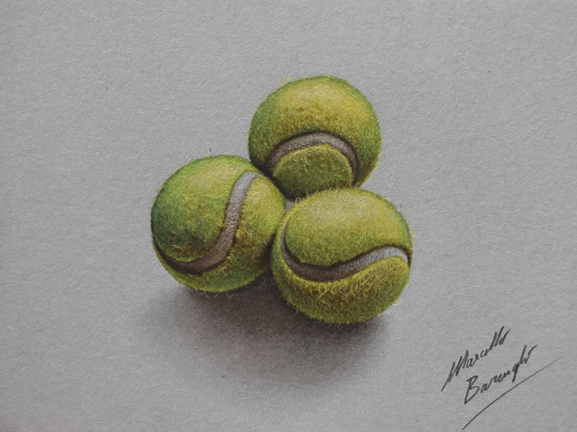 Realistic tennis balls by Marcello Barenghi