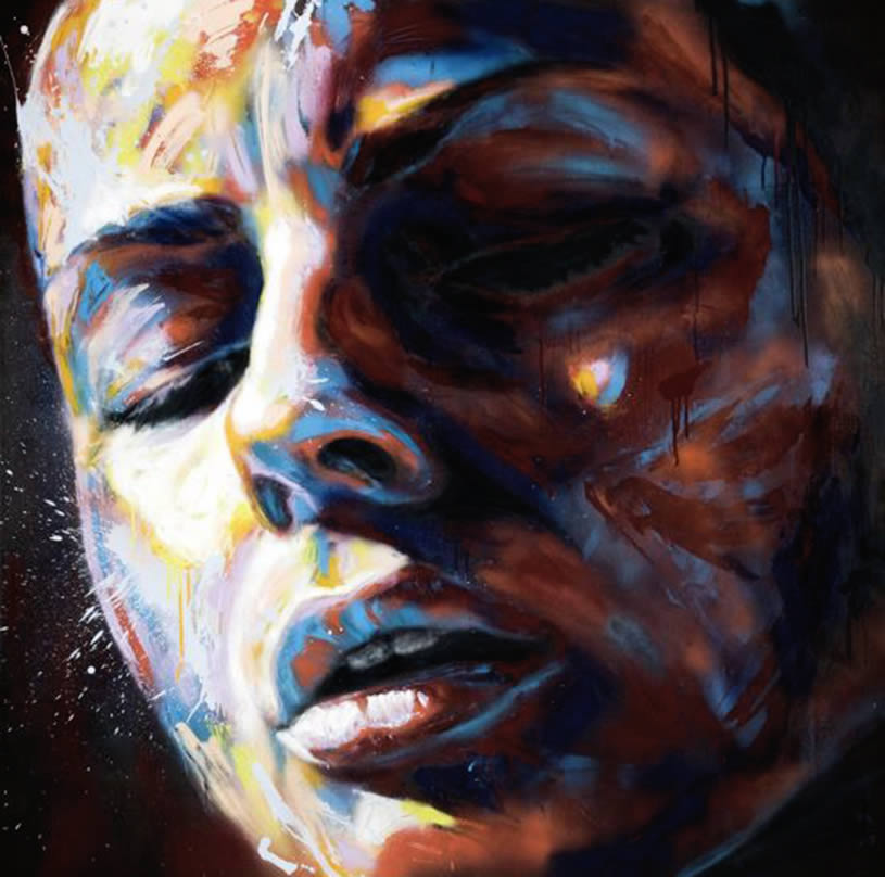 Expressive face painting by David Walker
