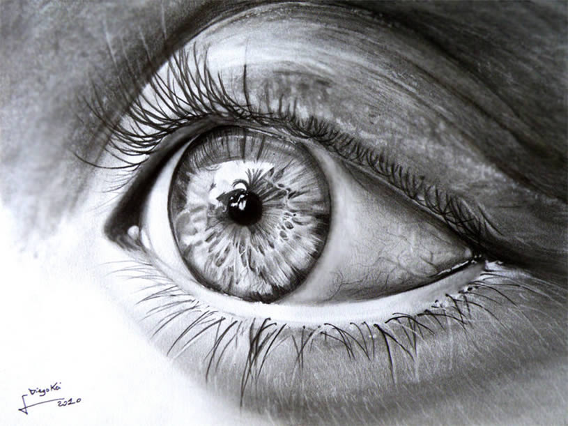 Realistic Eye drawing by DiegoKoi