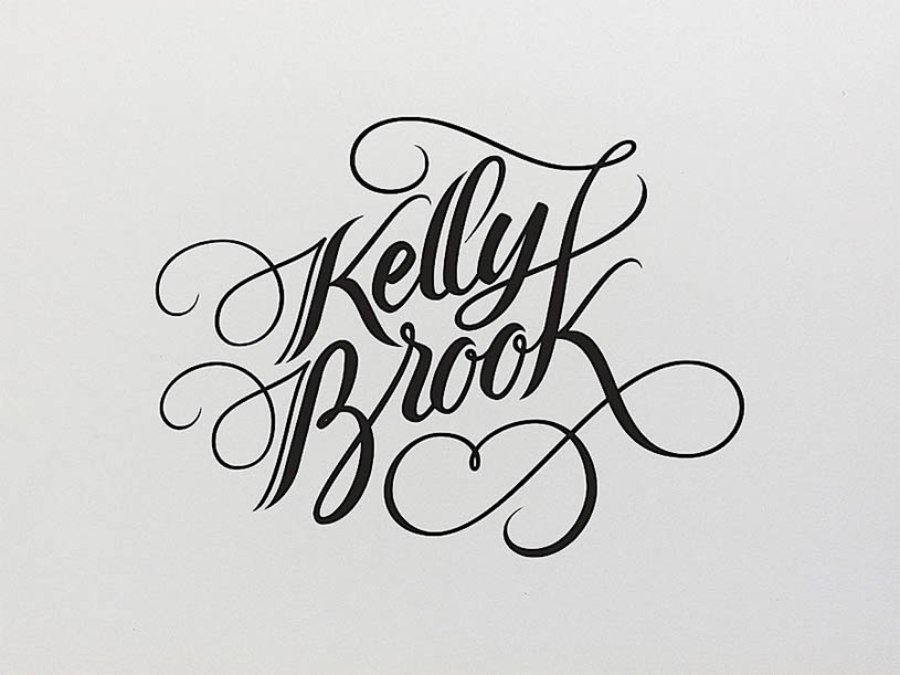 Kelly Brook Logo by Jackson Alves
