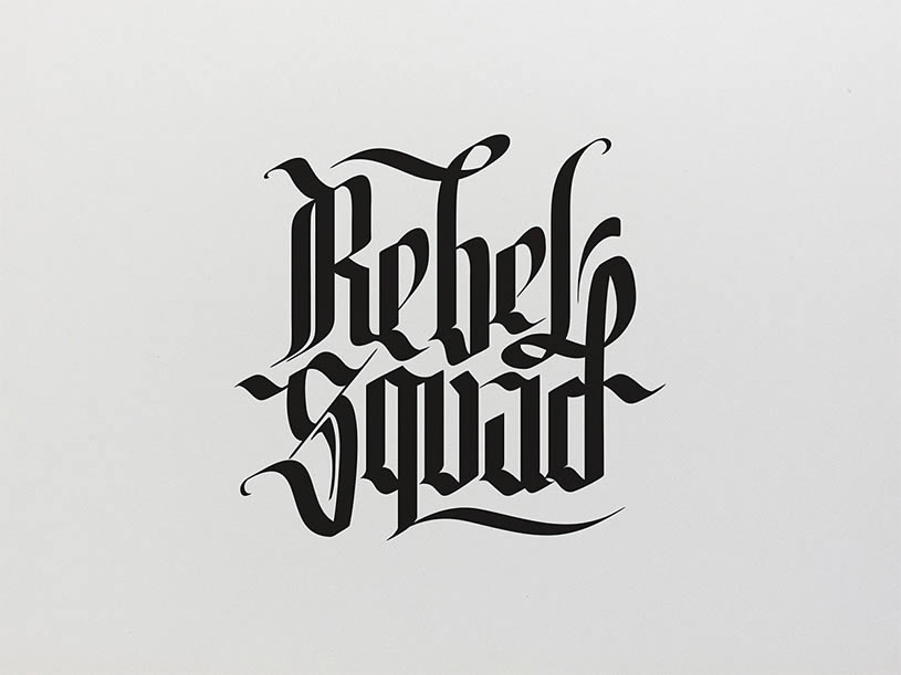 Rebel Squad Logo by Jackson Alves