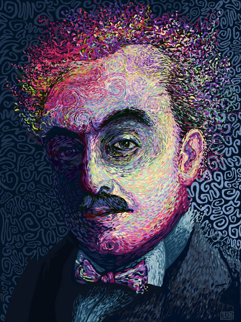 Full shot of Kahlil Gibran in Rainbows