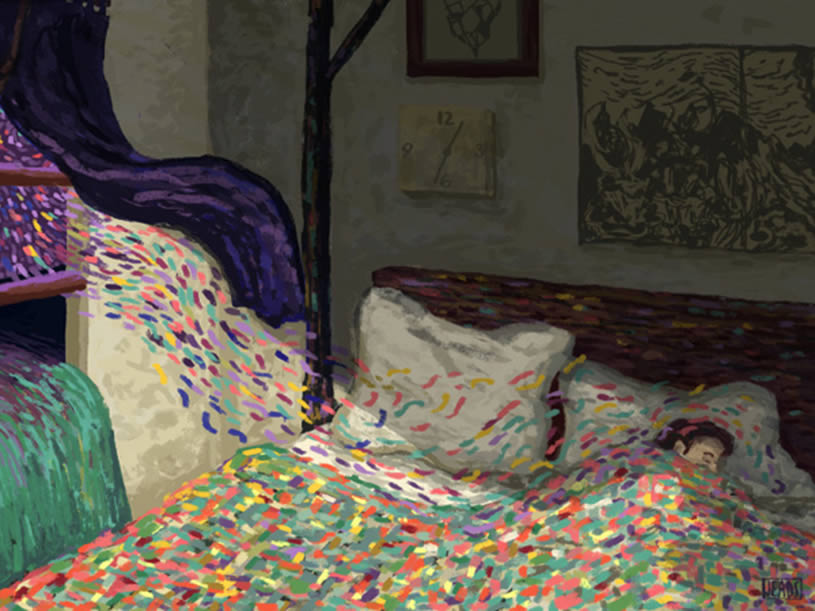 Close-up of Bedroom Wind by James R. Eads