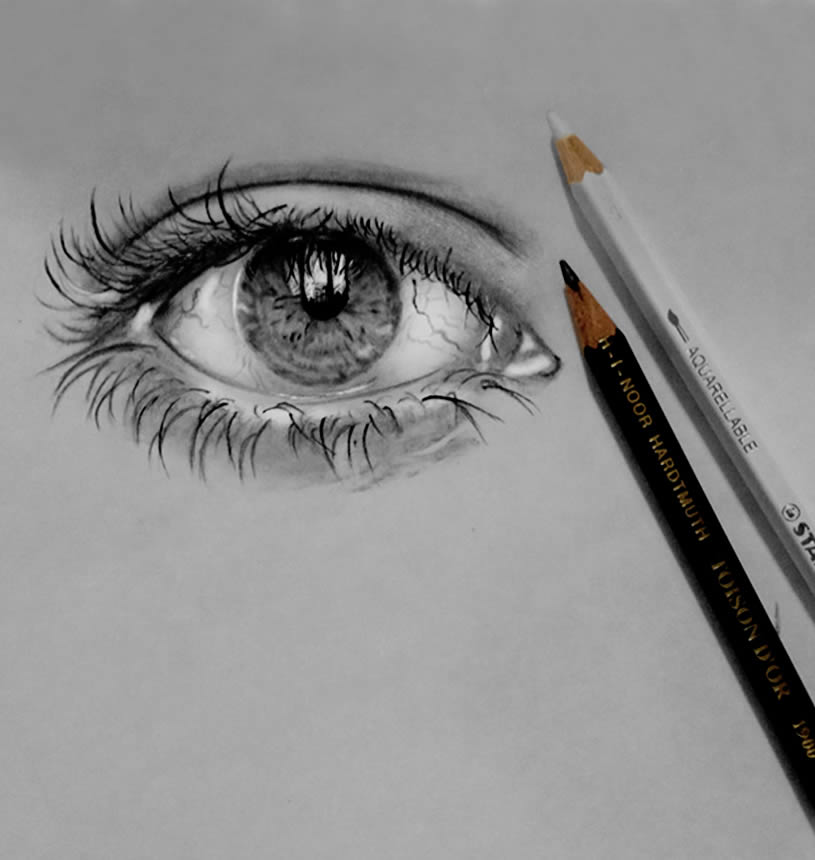 Realistic eye by Jatinder Singh