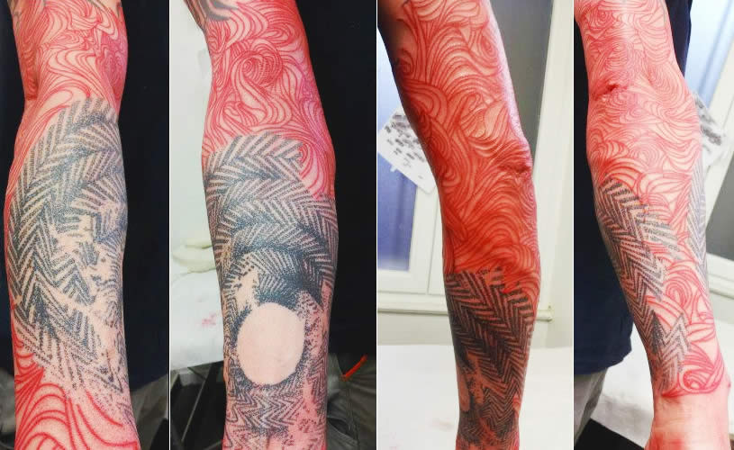 Arm tattoo by Jubss Lili Contraseptik