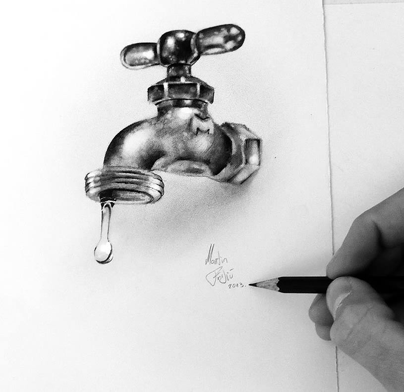 Water faucet by Martin F. Galery