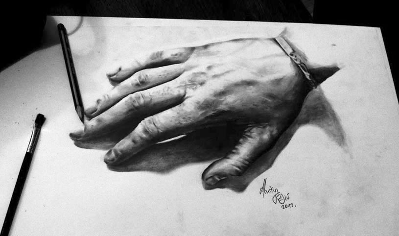 3d Hand drawing by Martin F. Galery