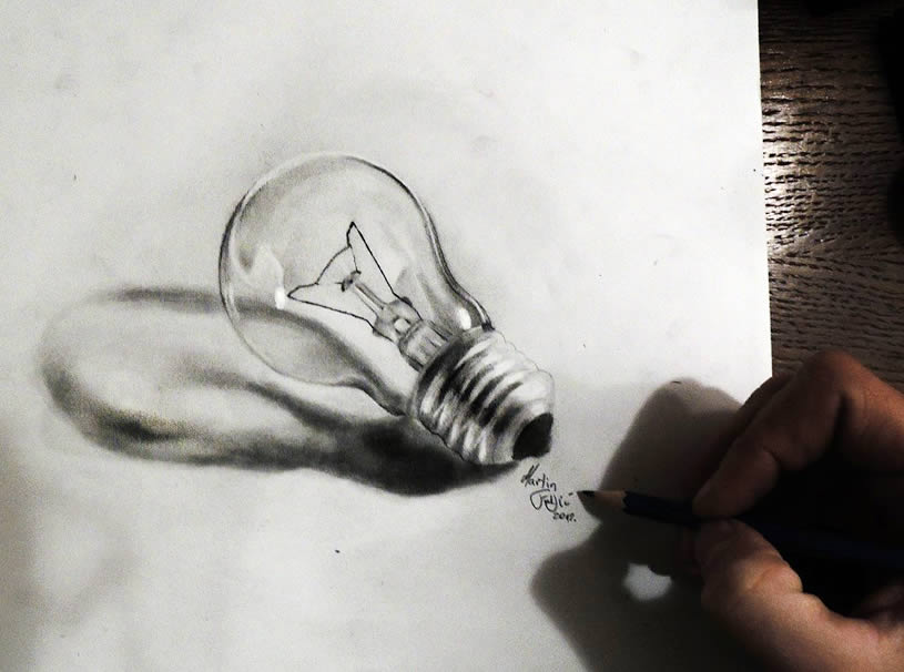 Lightbulb (3d) by by Martin F. Galery