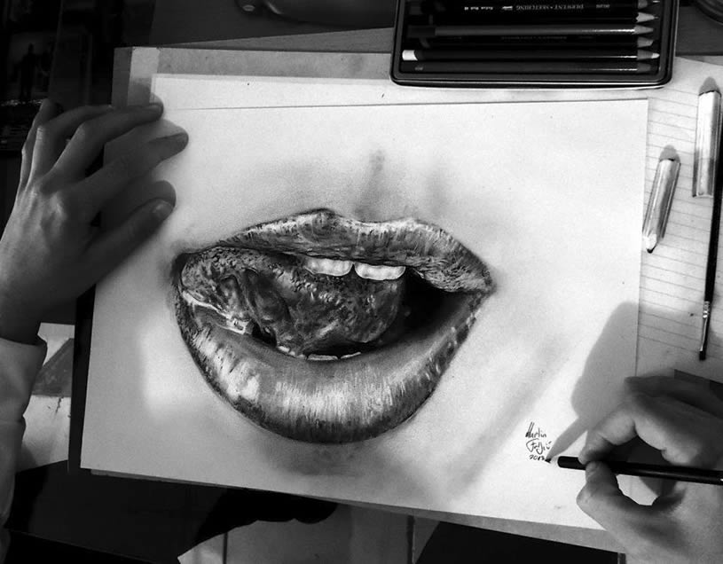 Realistic mouth/lips by Martin F. Galery