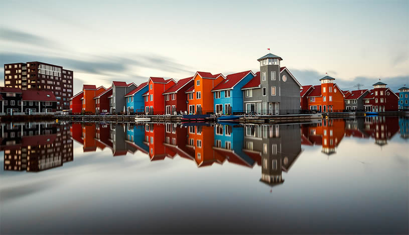 Colored House Reflection