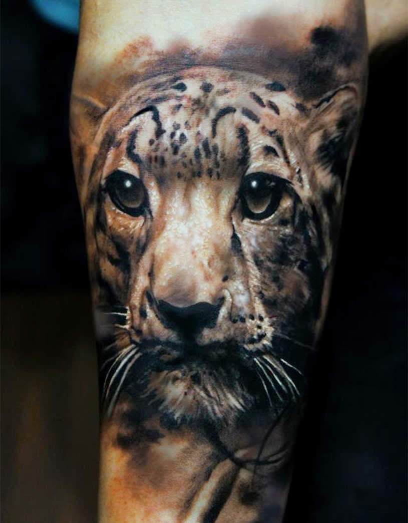 3D Realistic  Leopard tattoo by Domantas Parvainis