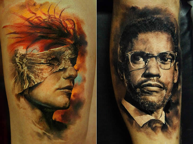 3D Realistic Portraits tattoo by Domantas Parvainis