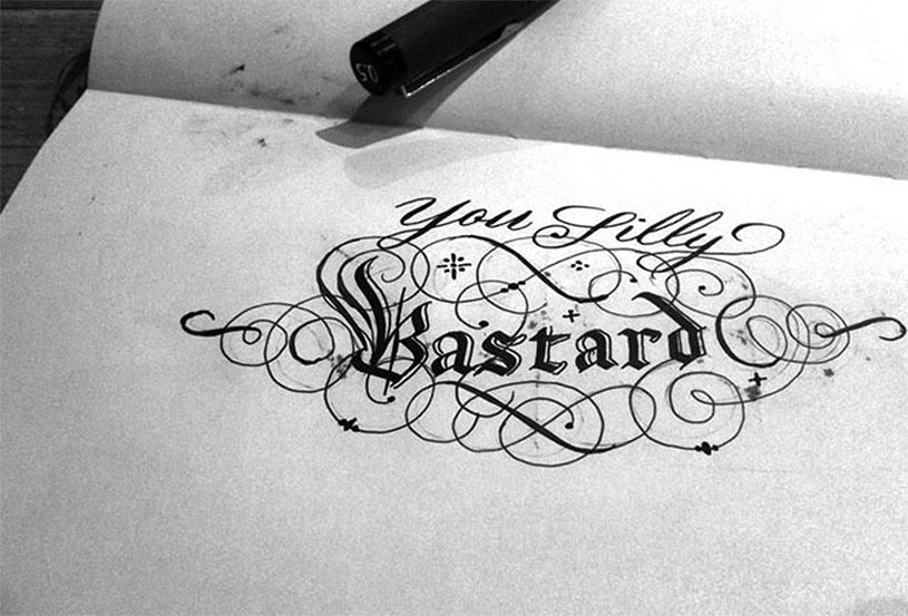Silly Bastard Calligraphy Seb Lester