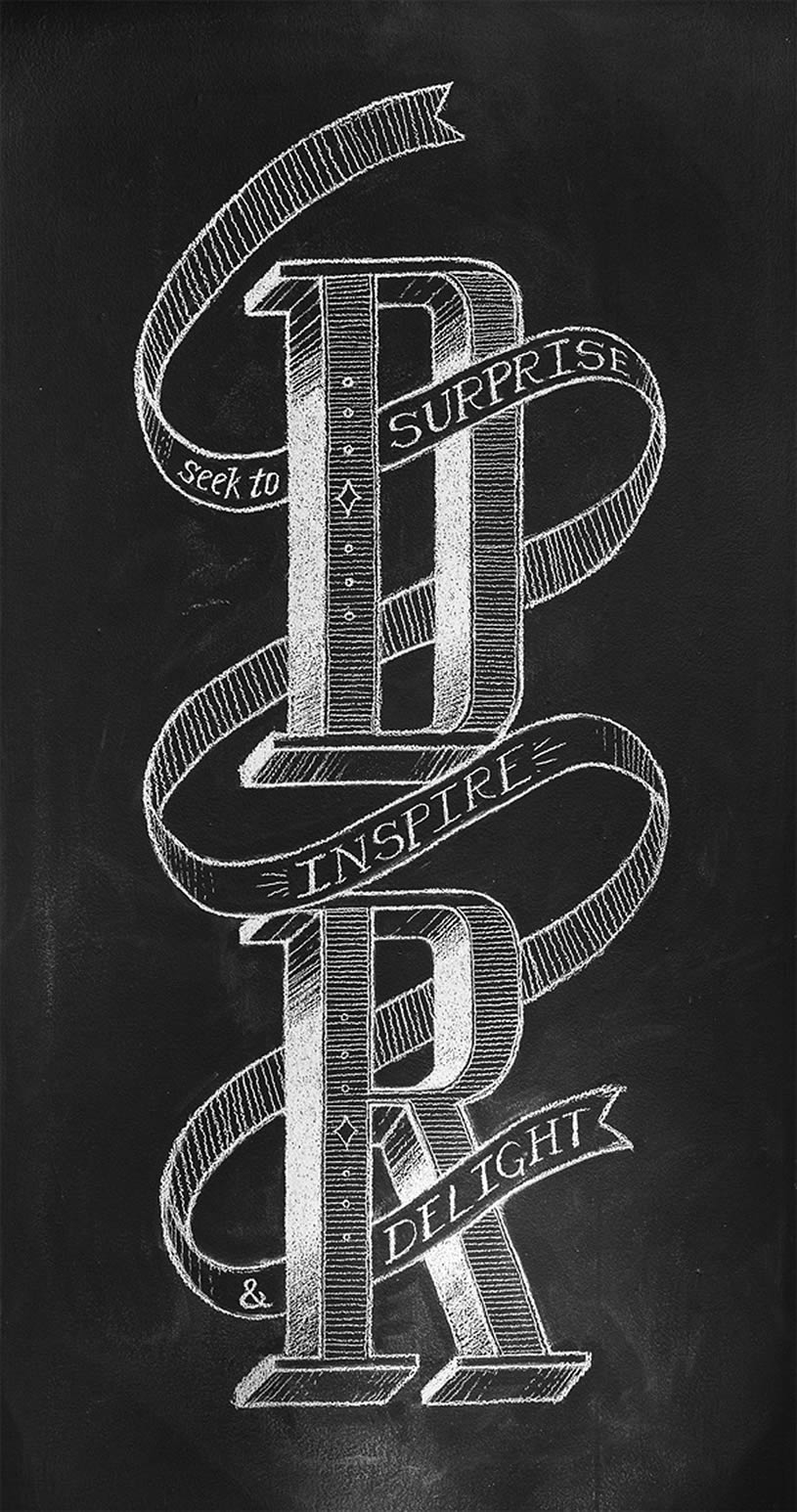 Letters in Chalk by Chris Yoon