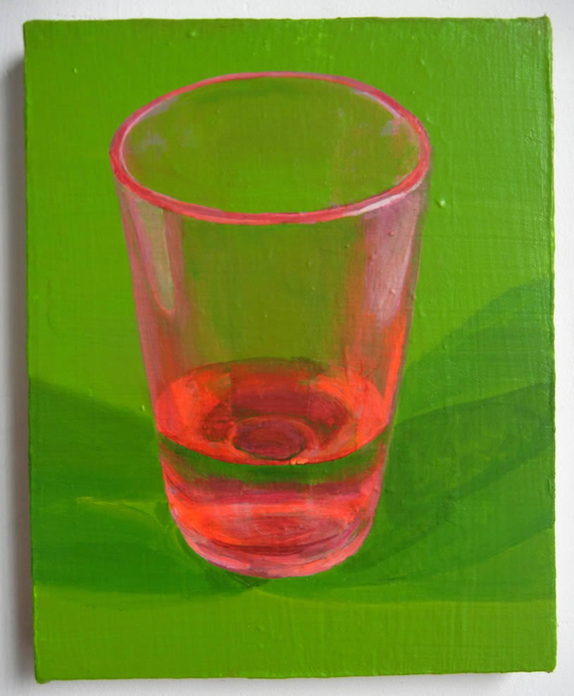 Pink Glass Cup painting by Hilary Doyle