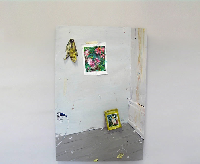 Corner of Room painting by Hilary Doyle
