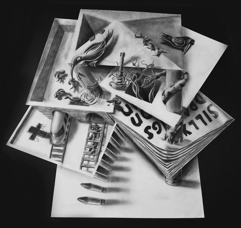 anamorphic 3D drawings by JJK Airbrush
