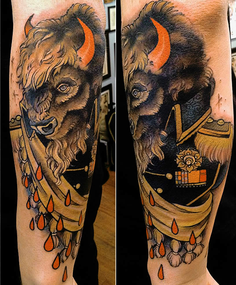 Ox Tattoo General by Mike Moses