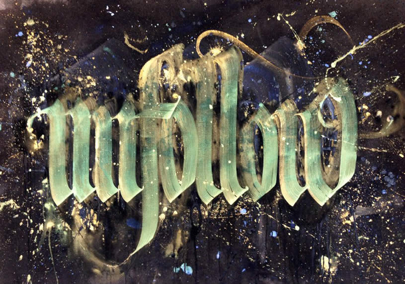 Graf style calligraphy by Niels Shoe Meulman