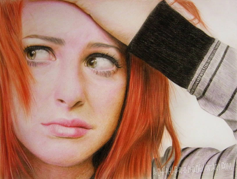 Red haired girl drawing by A-D-I--N-U-G-R-O-H-O
