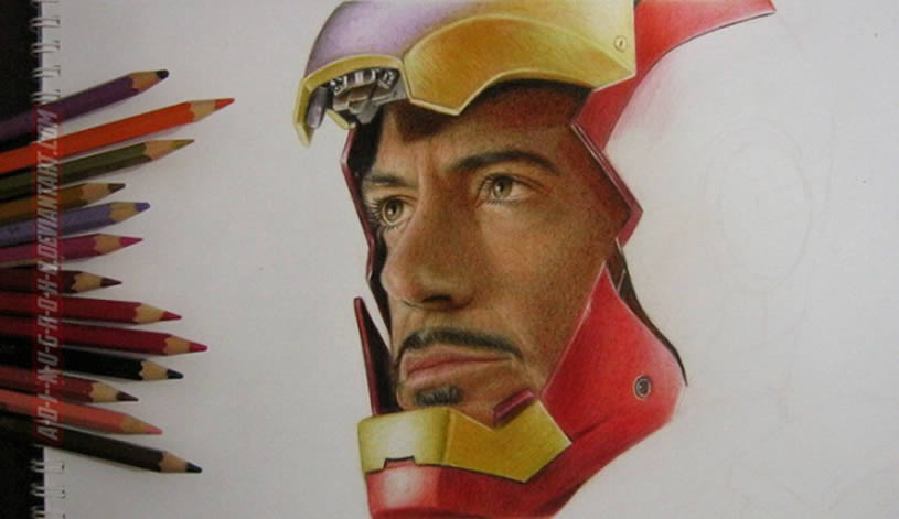Tony Starks drawing by A-D-I--N-U-G-R-O-H-O