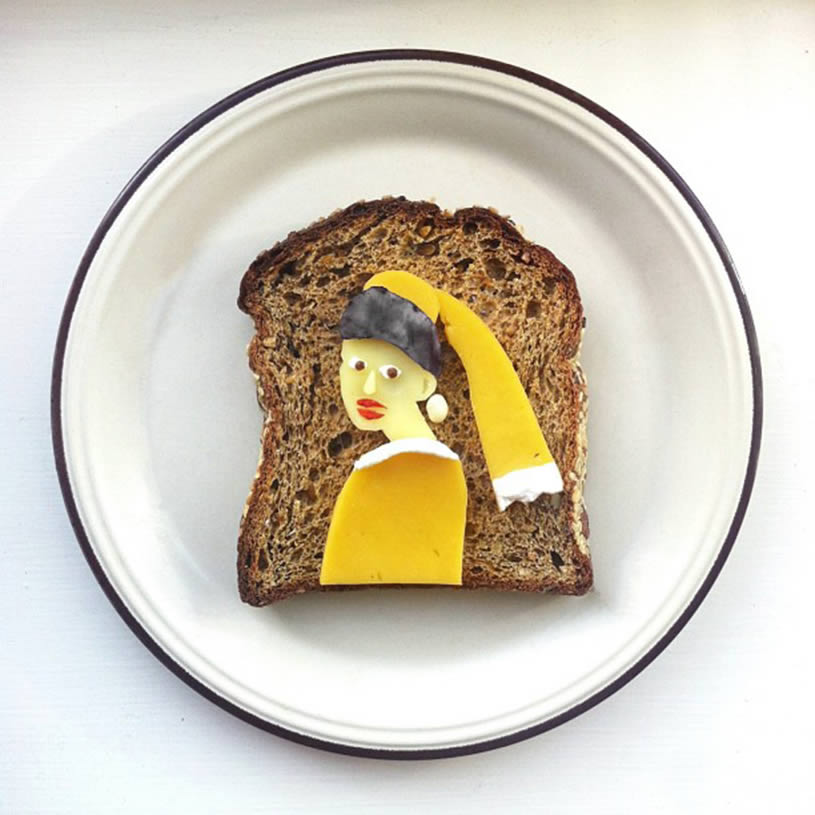 Girl with Pearl Earring, toast by Ida Skivenes