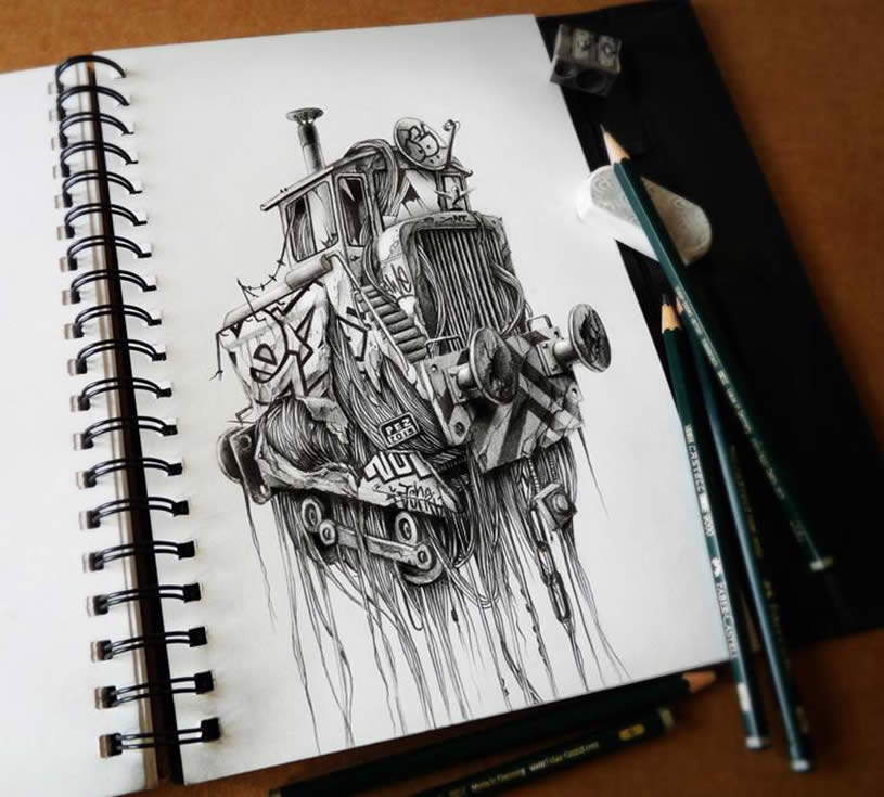 Sketchbook art by Pez