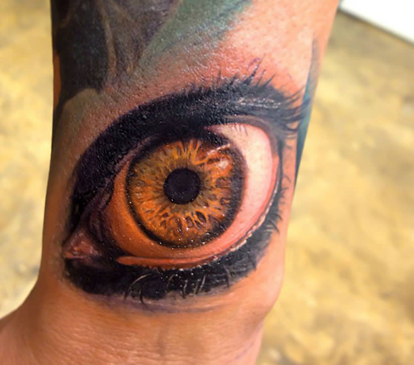 Realistic Eye tattoo by Rember Orellana
