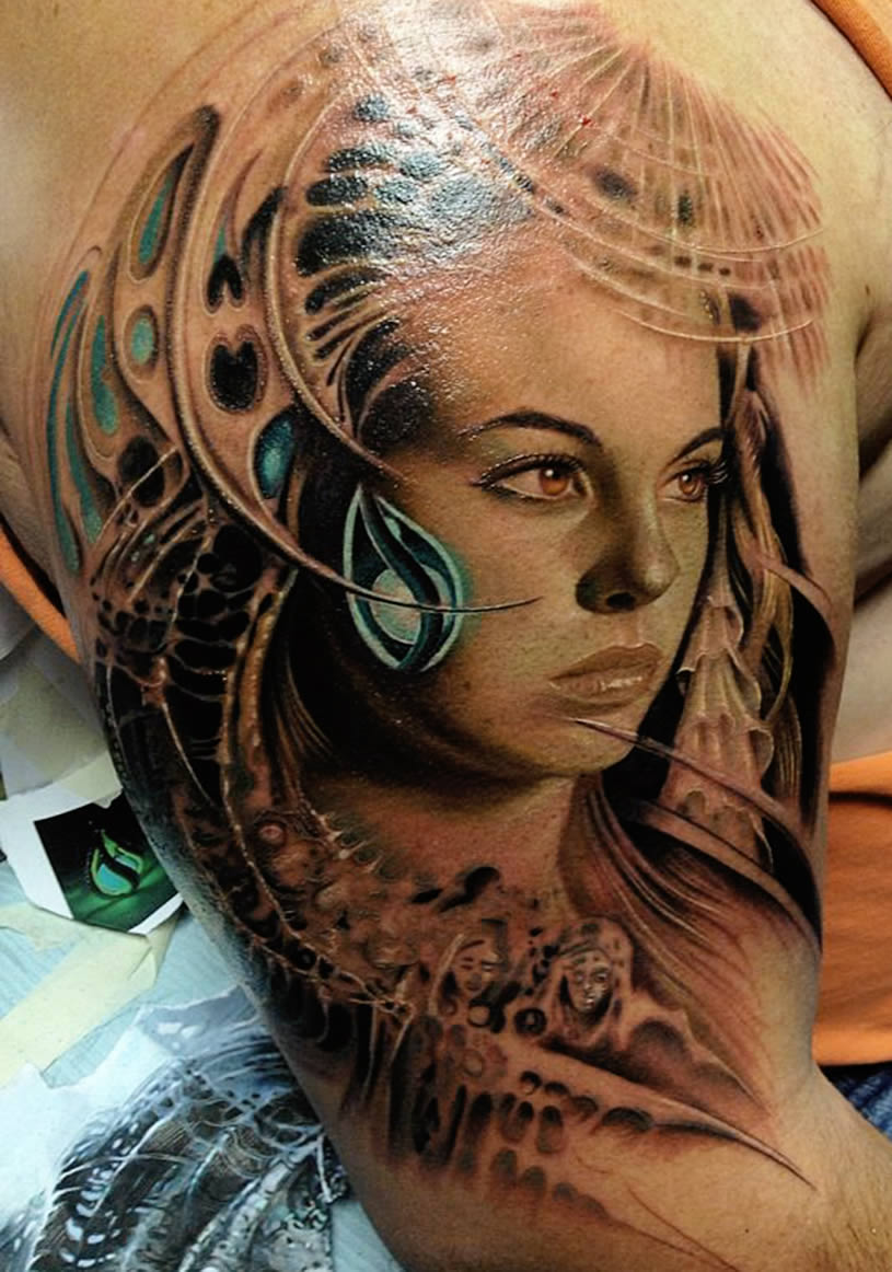 Tribal Girl tattoo by Rember Orellana