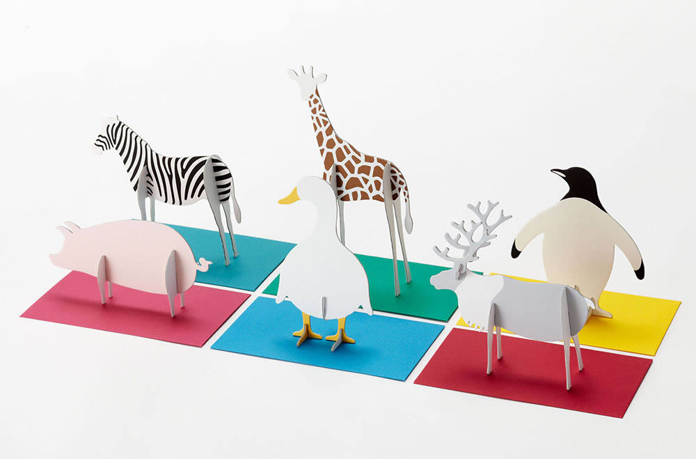 "Images of Standing Message Card ""post Animal"" by Katsumi Tamura"