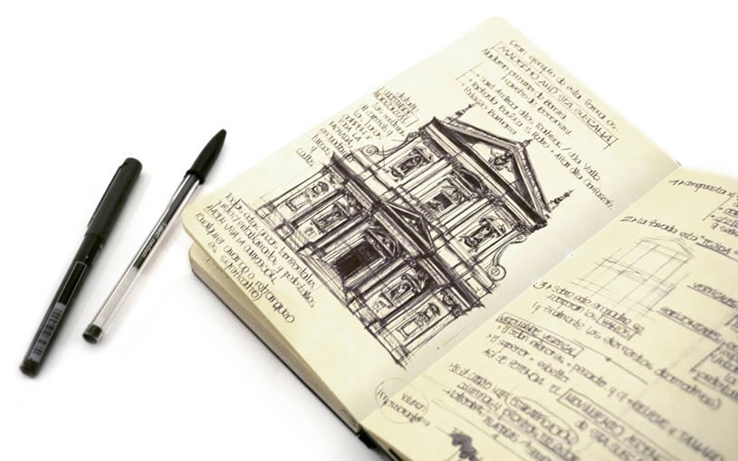 Architecture - Sketchbook drawings by Chema Pastrana 3