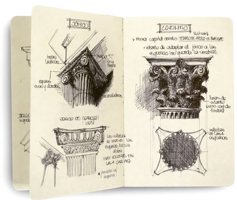 Architecture - Sketchbook drawings by Chema Pastrana 6