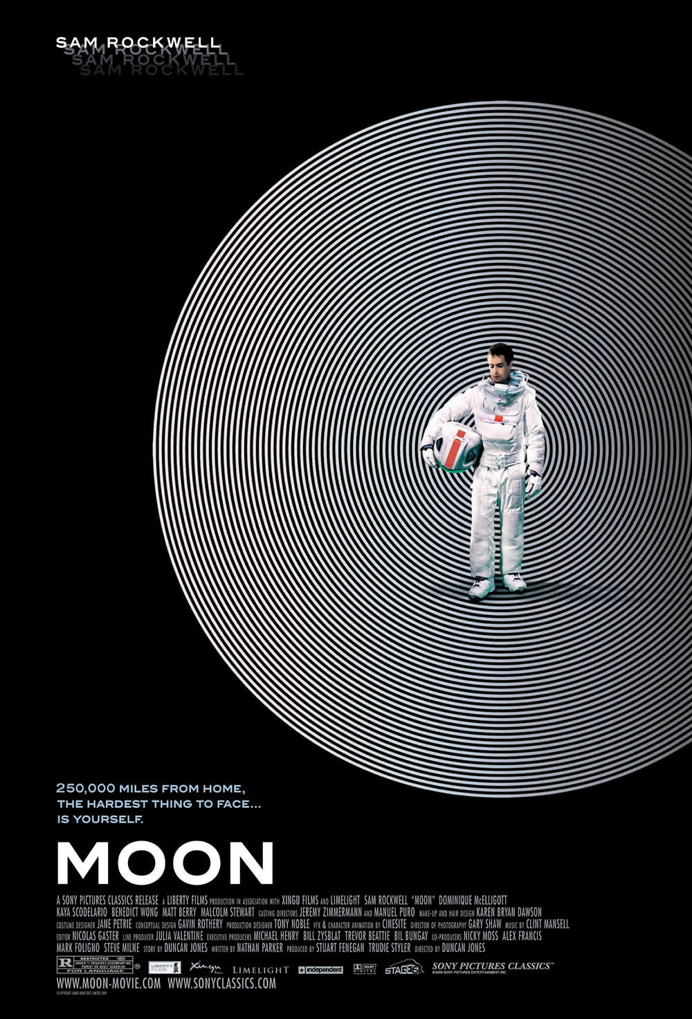 """Moon"" (2009). Poster design by Cardinal Communications USA."