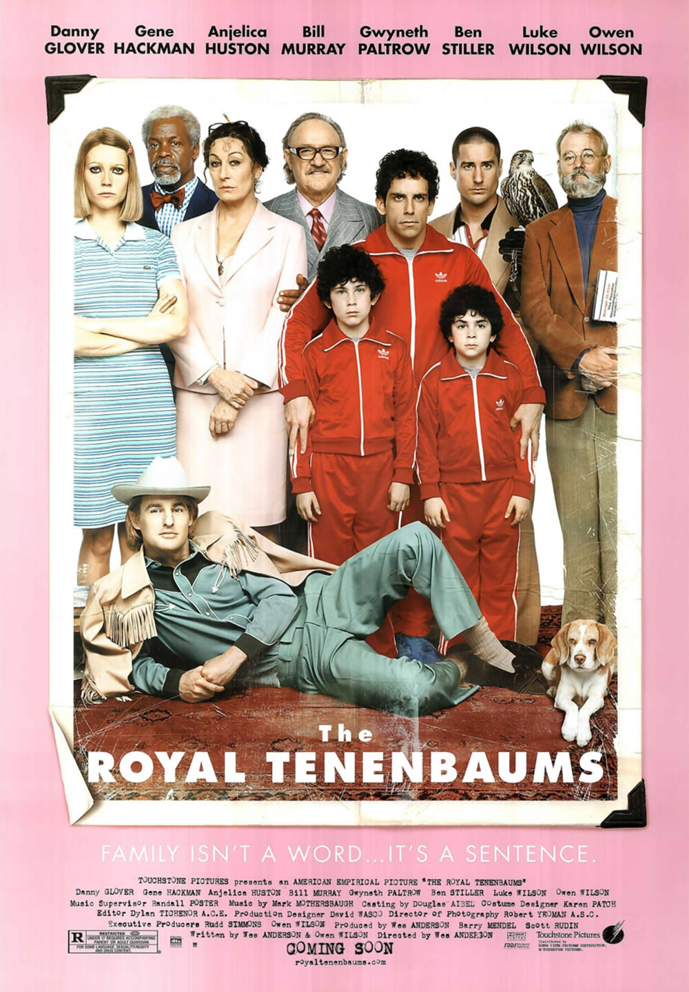 """The Royal Tenenbaums"" (2001). Poster design by BLT Communications, LLC."