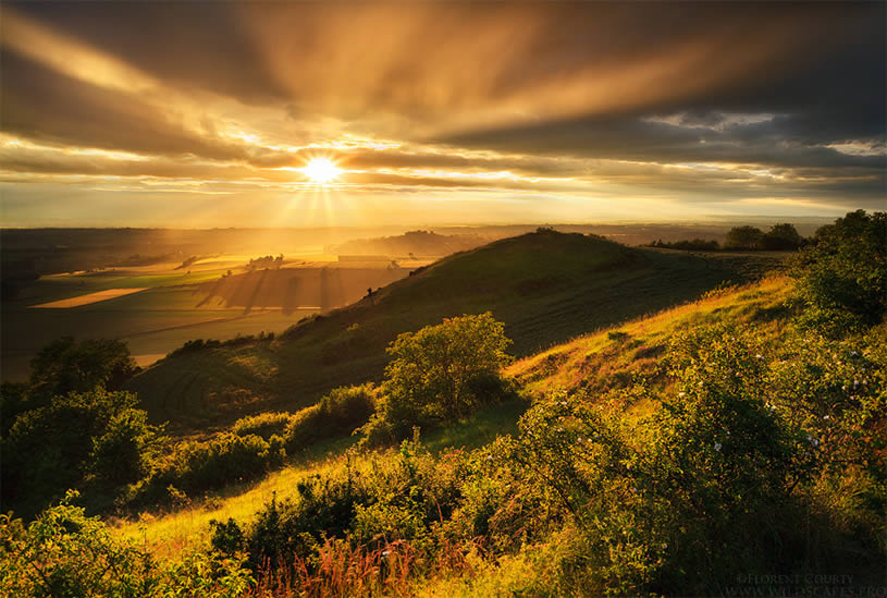 Stunning landscape photo by Florent Courty - sunshine