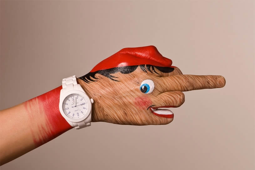 Pinocchio, hand painting by Guido Danielle