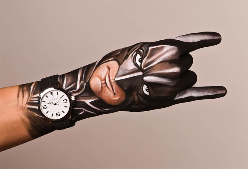 Batman, hand painting by Guido Danielle
