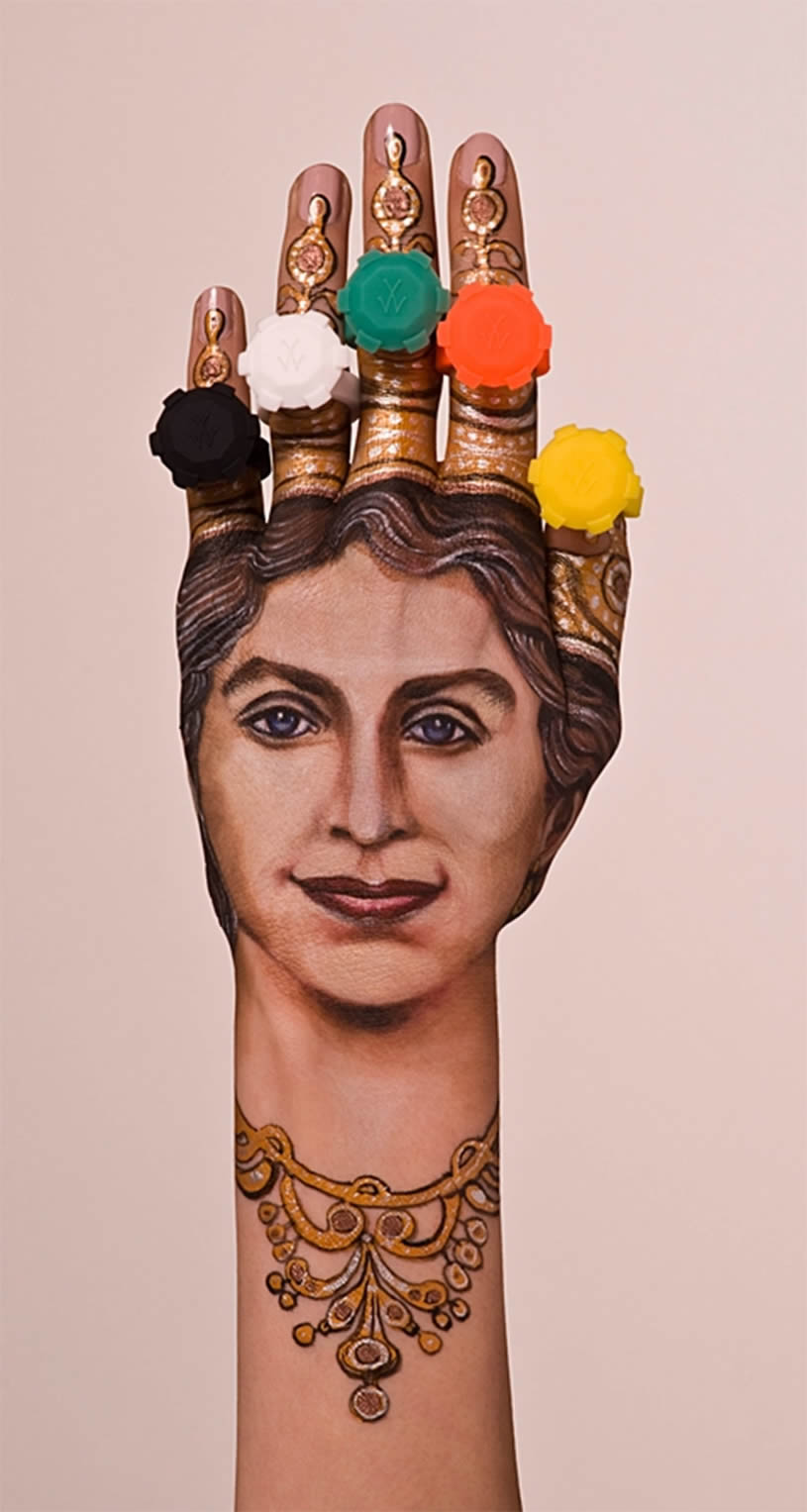 Queen, hand painting by Guido Danielle