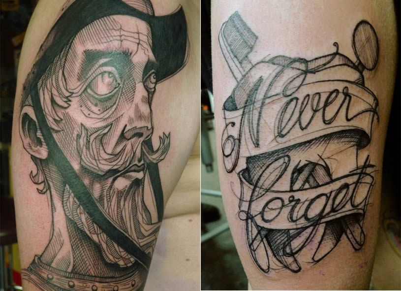 Never forget tattoo by Lea Nohan