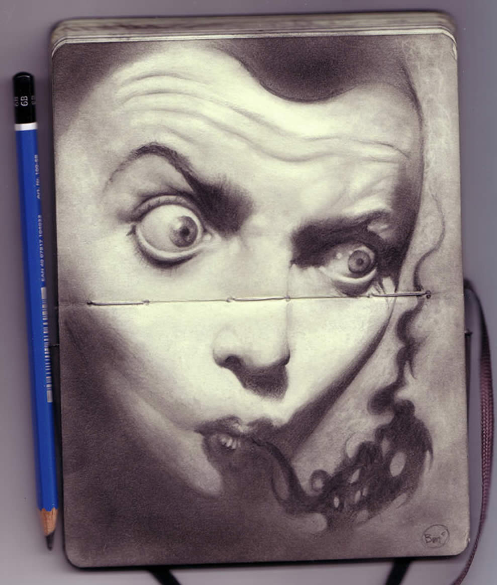 Sketchbook drawing by Brendan Mcloughlin 5