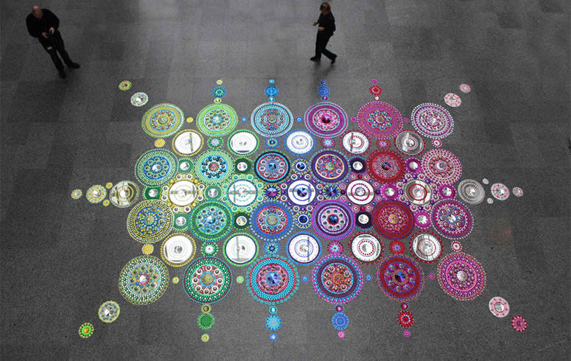 Floor art by Suzan Drummen 2