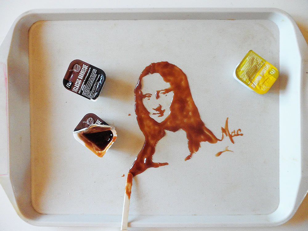 Mona Lisa (Food art) by Vivi Mac