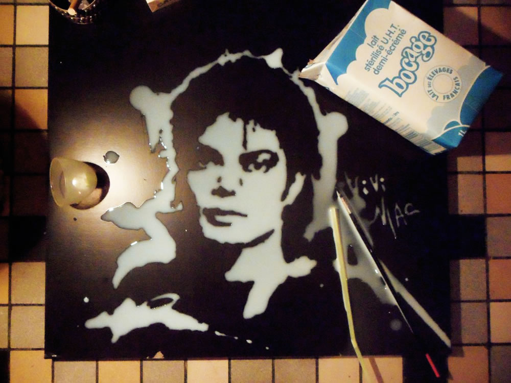 Michael Jackson (Food art) by Vivi Mac
