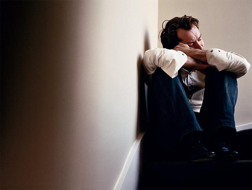 Jude Law from the Crying Men Photo series by Sam Taylor
