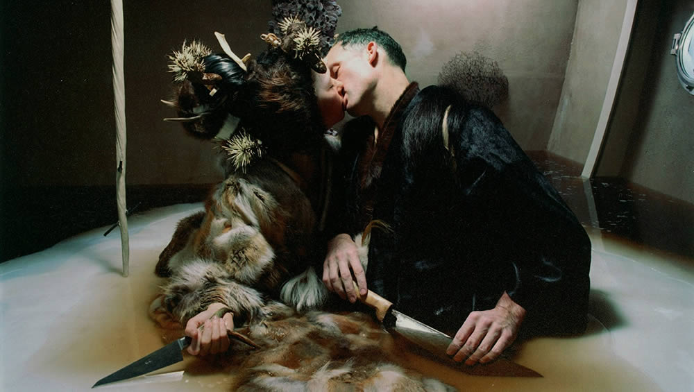 "Bjork and Matthew Barney in ""Drawing Restraint 9"" (2005)."