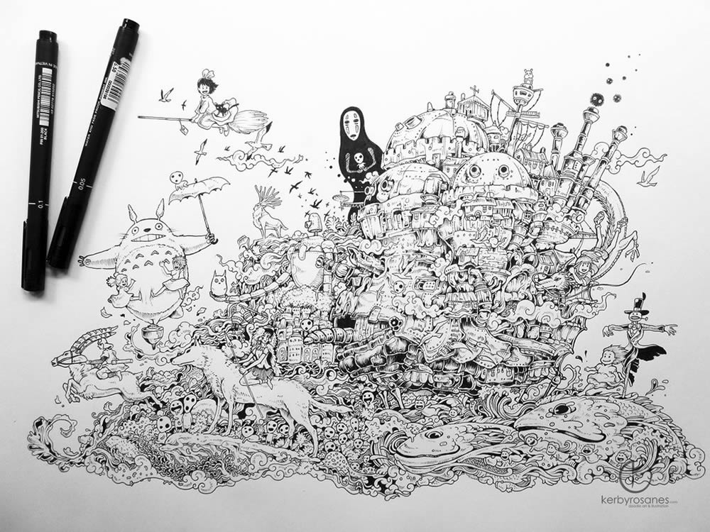 sketchbook drawing by Kerby Rosanes