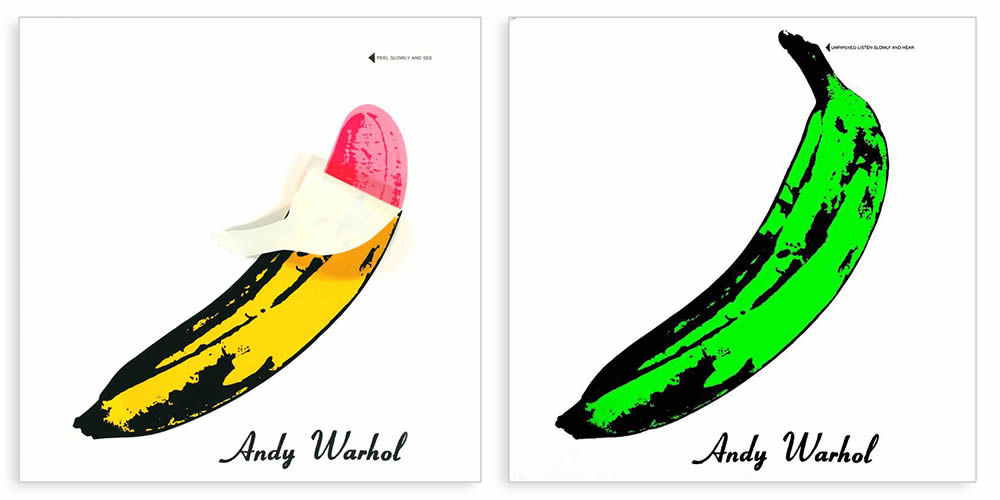 """The Velvet Underground and Nico,"" Designed by Andy Warhol, 1967., peeled banana"